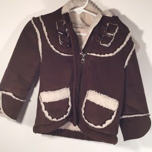Old Navy Hooded Toddler Jacket 18-24 Months Brown
